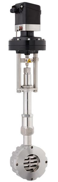 8026-Gleitschieber-Regelventill-fuer-tiefe-Temperaturen-mit-integriertem-Stellungsregler